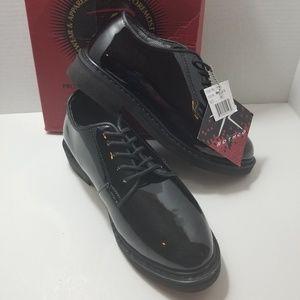 Rothco Black Hi-Gloss lightweight oxfords 5R